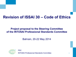 project proposal ISSAI 30