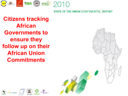 Citizens tracking African Governments to ensure they