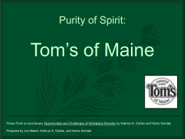 Tom`s of Maine Powerpoint