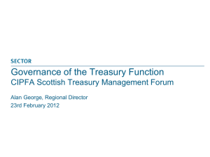 Governance of the Treasury Function