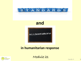 Module 21: Standards and Accountability