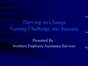 Thriving on Change Turning Challenge into Success