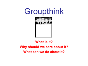 Groupthink - Orientation