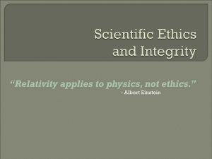 Scientific Ethics - Greensburg Salem School District