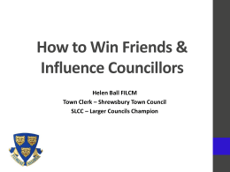 How to Win Friends & Influence Councillors