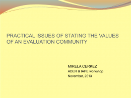 Evaluation - Workshop - Development of guidelines for Ethical