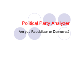 Political Party Analyzer