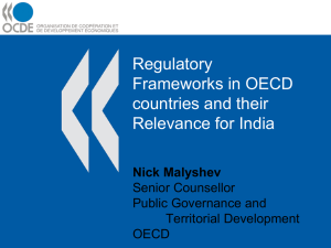 Regulatory Frameworks in OECD countries and their