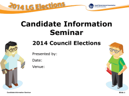 2014 Candidate Information Seminars