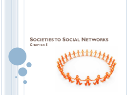 Social Groups and Social Networks