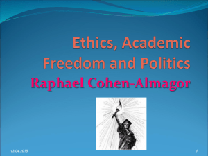 Ethics, Academic Freedom and Politics
