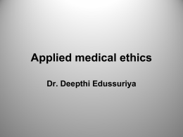 Applied Medical Ethics 2