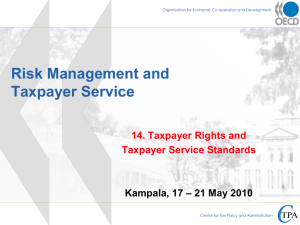 Taxpayer rights and obligations