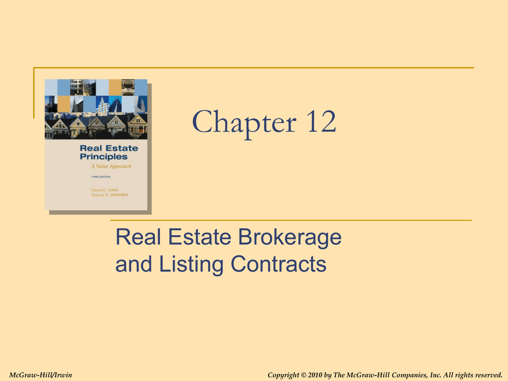 Brokers And Sellers >> Chapter 12 Strat