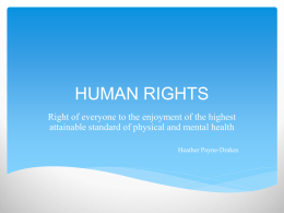HUMAN RIGHTS - Mental Health Commission of Barbados