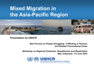 Mixed Migration Flows in the Asia-Pacific Region