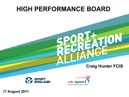 HIGH PERFORMING BOARD - Sport and Recreation Alliance