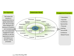 Stakeholder Engagement Model