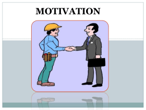 MOTIVATION - Nursing PowerPoint Presentations