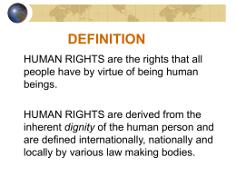 Overview on Human Rights