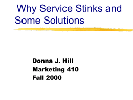 Why Service Stinks