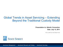 Global Trends in Asset Servicing – Extending Beyond the Traditional