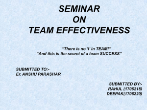 What is Team Effectiveness?
