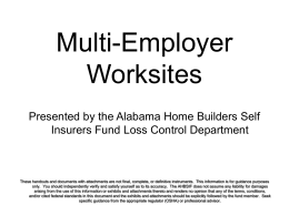Multi-Employer Worksites - Home Builders Association of Alabama