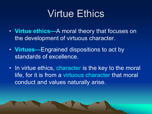 Virtue Ethics