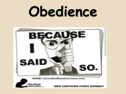 Obedience - WordPress.com
