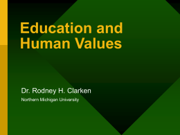 Education and Human Values.