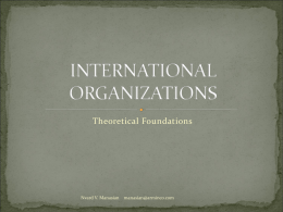 INTERNATIONAL ORGANIZATIONS-theory