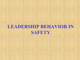 What Does Safety Leadership Look Like?