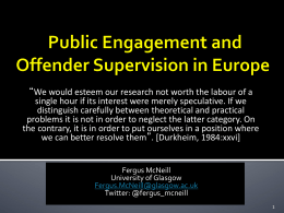 McNeill COST 270314 - Offender Supervision in Europe