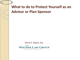 fiduciaries - Wagner Law Group