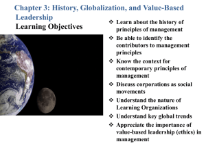 CHAPTER 3 - History, Globalization and Values