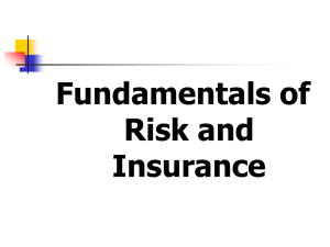 Fudamentals of risk and insurance