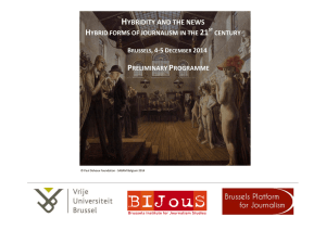 HYBRIDITY AND THE NEWS - Vrije Universiteit Brussel