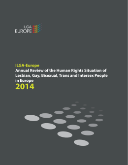 ILGA-Europe Annual Review of the Human Rights Situation of