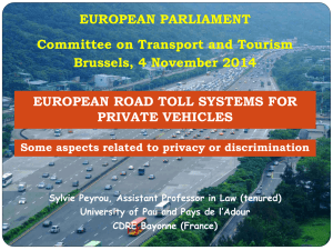 european road toll systems for private vehicles