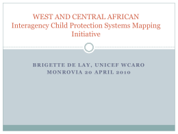 WCARO Interagency system mapping initiative 2010 ENG