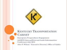 Kentucky Transportation Cabinet - AASHTO
