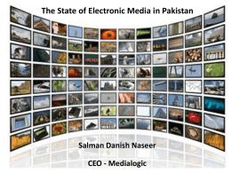 The Future of Electronic Media in Pakistan