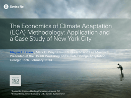 The Economics of Climate Adaptation (ECA) Methodology