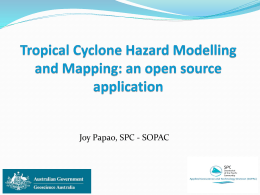 Tropical Cyclone Hazard Modelling and Mapping
