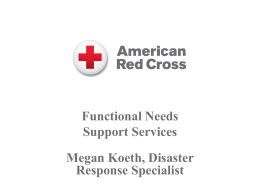 Functional Needs Support Services in Shelters