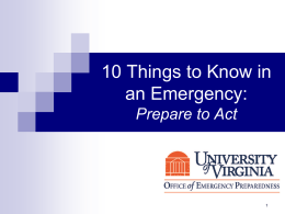 10 Things to Know in an Emergency