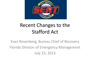 Recent Changes to the Stafford Act