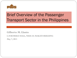 Brief Overview of the Passenger Transport Sector in the