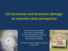 US hurricanes and economic damage: an extreme value